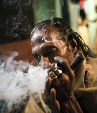In some places within the colony people meet at evening to smoke Marihuana which is a way for them to honor their gods.